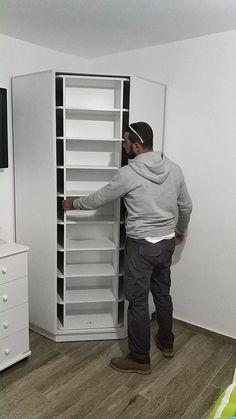 Wardrobe Design Bedroom, Closet Bedroom, Shoe Rack In Closet, Shoe Rack Cupboard, Entryway Closet, Shoe Storage Cabinet, Kitchen Cupboard, Master Closet, Wardrobe Rack