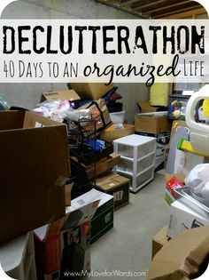 Declutterathon: 40 Days to an Organized Life; 40 Bags in 40 Days #40Bagsin40Days #Declutterathon #declutteryourlife