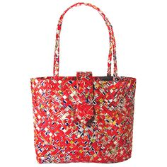 I love ReBagz recycled totes and purses! Check out their line.