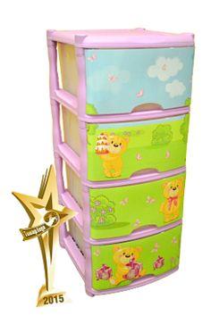Детский комод для детской комнаты Bears Tutti 4 ящика
