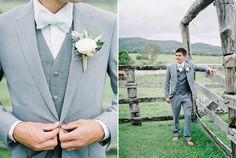 Peaches & Cream Country Wedding - Polka Dot Bride