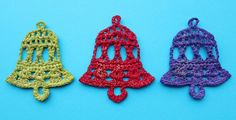 I enjoy making these crochet bells as you learn the pattern quickly by heart. These