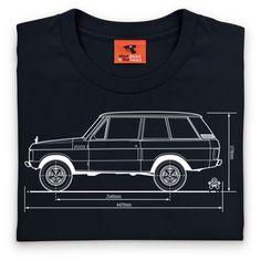 Classic T Shirt, Mens - Black Range Rover V8, Range Rover Supercharged, Range Rover Classic, Old And New, Classic T Shirts, Automobile, Objects, Trucks, Clothing