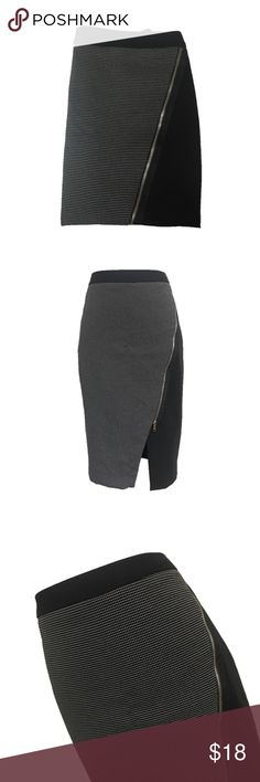 Worthington Black & White Business Pencil Skirt •Pencil skirt •Front diagonal zipper •Also zips in back •White tiny dot pattern on the front •Solid black back •Worthington brand •Past knee length •Size 8 •Made in Vietnam  •98% Polyester, 2% spandex •Condition: great/gently used Worthington Skirts Pencil