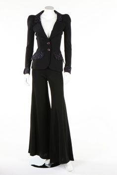 Vintage Fashion Biba black jersey and floral cotton print jacket, early Biba Fashion, Seventies Fashion, 60s And 70s Fashion, Fashion Brand, Retro Fashion, Vintage Fashion, Womens Fashion, Fashion Design, Biba Clothing