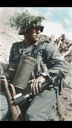German infantry, looks like a Gefrieter, or 'senior non-comm soldier'.
