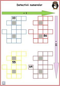 Numerele până la 100 -Detectivii numerelor 4 Preschool, Education, Math, Kid Garden, Math Resources, Kindergarten, Onderwijs, Learning, Preschools