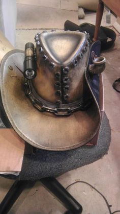 Steampunk Cowboy Hat. My Dad would like this.