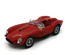 DANBURY MINT 1958 Ferrari 250 Testa Rossa Diecast 1:24 Scale Red - Diecast Model Cars
