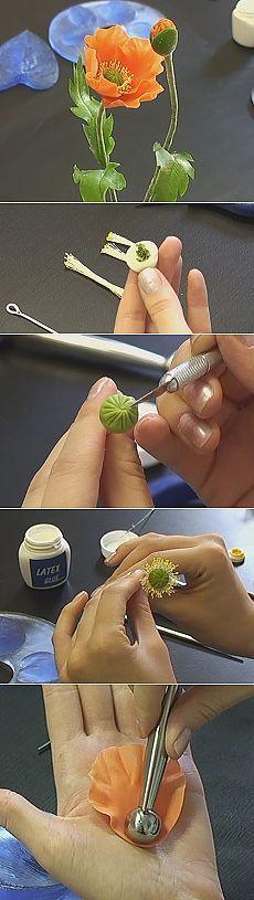 Poppy ~ Polymer Clay Flower