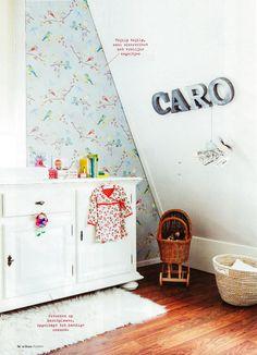 Kamer met PIP behang Le Creuset, Pip Studio, Kidsroom, Baby Room, Nursery, Pyrex, Wallpaper, Vintage, Furniture