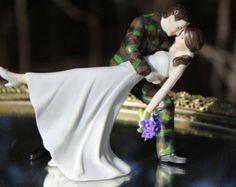 Us Army Solr Green Camo Groom Uniform Dance Dip Wedding Cake Topper