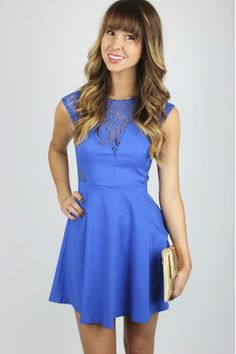 Royal Lace Fit & Flare Dress $34.99 #lace #fitandflare #dress #sophieandtrey