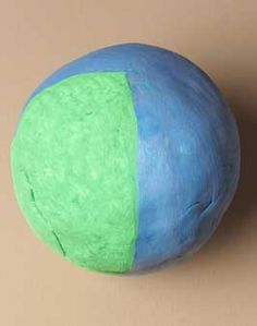 Fraction Earth lesson plan: Environmental science, math, and art team up! Find out how much of the Earth is water and how much is land. Make a globe to show what you know!
