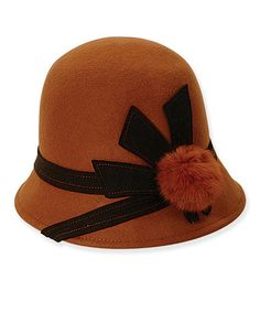 Take a look at this Rust Wool Cloche by ADORA on #zulily today!