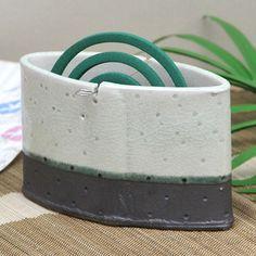Mauichi Honten | Rakuten Global Market: Summer events! Shin raku pottery black and white dot incense! Pottery mosquito spear instrument! The Interior also perfect / incense holder instrument / pottery / mosquito / pottery / Shigaraki / coils / 蚊遣 instrument [kr-0044]