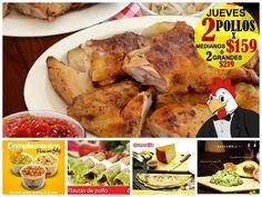 HOOOOY! #JUEVES de POLLO FELIZ! 2 Pollos MED.x $159 ó 2 Pollos GDES.x $219 #PolloFeliz #PuertoVallarta #Vallarta