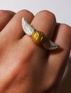 Golden Snitch (ring) by ThatPeskyNargle.deviantart.com on @deviantART