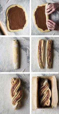 Baking Flour, Bread Baking, Nutella Cookies, Nutella Bread, Babka Recipe, Chocolate Babka, Bakers Gonna Bake, Food Crush, Weird Food
