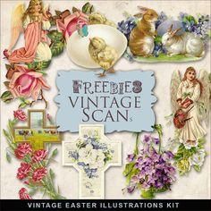 Far Far Hill--Freebies Vintage Easter Vignettes