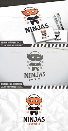 Ninja Party Logo — Vector EPS #media #game community • Available here → https://graphicriver.net/item/ninja-party-logo/12328804?ref=pxcr