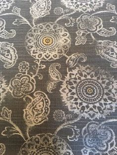 grey gray gold slate suzani paisley upholstery fabric 24 yds chair upholstery fabric 2