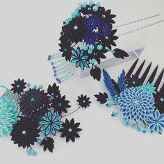 2016Summer #つまみ細工 #つまみ簪 #和の髪飾り #成人髪飾り #和婚ヘア #和婚髪飾り #kanzashi #tsumamizaiku #hairornament #headpiece #headdress