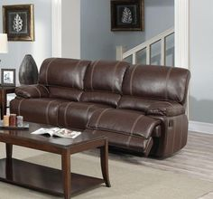 Description: Set Includes reclining sofa and loveseat with center console (chair available). Color: BrownMaterial: Bonded LeatherCondition: New. Measurements: S Brown Couch Living Room, Accent Chairs For Living Room, Living Room Sets, White Furniture, Sofa Furniture, World Market Dining Chairs, Small Swivel Chair, Leather Reclining Sofa, Restaurant Chairs