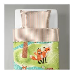 VANDRING RÄV Duvet cover and pillowcase(s) IKEA Cotton is soft and feels nice against your child's skin.
