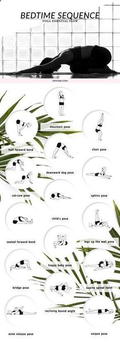 Beat insomnia and boost relaxation with our bedtime essential flow. A 12 minute yoga sequence perfect to soothe your mind and body before bed. Put on your coziest PJs, grab a cup of chamomile tea and unwind! -- You can find more details by visiting the image link. #InsomniaRemediesSleeplessNight