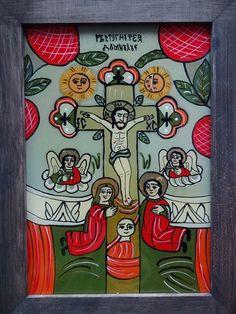 Icoane pe Sticla Religious Icons, Religious Art, Byzantine Icons, Art Icon, Ikon, Folk Art, Glass, Artwork, Pictures