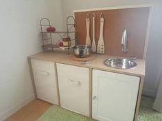 DIYで簡単に作れちゃう!カラーボックスdeおままごとキッチン!!