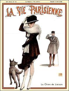 La Vie Parisienne Le Chien de Liaison May 11, 1918 Georges Léonnec