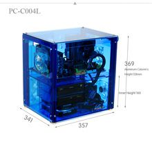 QDIY can Install Graphics Card Transparent Chassis Acrylic Personalized Water Cooled Computer Case - Shop Tablet PCs Custom Computer Case, Custom Computers, Computer Build, Water Cooling, Aliexpress, Led, Canning, Cool Stuff, Graphics