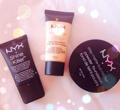 Oily skin? Looking for makeup products to help keep you matte? Check out @NYX Cosmetics stay matte foundations and the shine killer foundation.