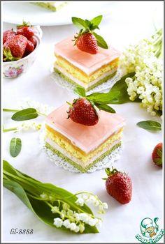 Торт Антреме Мята, клубника, апельсин - кулинарный рецепт