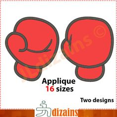 Boxing gloves applique design. Machine embroidery design - INSTANT DOWNLOAD - 16 sizes. Boxing glove applique design. by JLdizains on Etsy