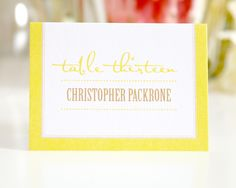 Modern Logo Place Cards - Place Cards by Shine