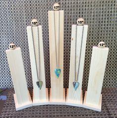 Tall Slim Line Wood Necklace Jewelry Display by DebeVanderHeide on Etsy https://www.etsy.com/listing/398241643/tall-slim-line-wood-necklace-jewelry