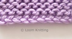 Loom Knitting: Crochet Cast On. Makes a heavier foundation for project