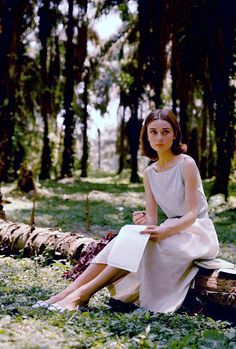 """vintagegal: """"Audrey Hepburn photographed by Leo Fuchs while filming The Nun's Story, 1958 """""""