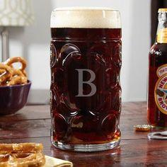 Home Wet Bar Oktoberfest Personalized 35 oz. Beer Mug Monogram: H