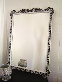 driftwood interiors: Faux Inlay Mirror...the reveal