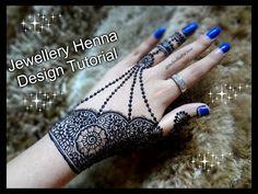 DIWALI special Mehndi Designs II Beautiful jewellery style henna designs Tutorial for DIwali and Eid - YouTube