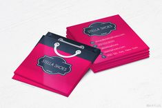 Shopping Bag Business Cards - Boutique/Store - Design and Printing - UV - 2500 Business Cards, Business Card Design, Stella Shoes, Boutique Stores, Photoshop Design, Store Design, Shopping Bag, Scanner App, Paparazzi Jewelry