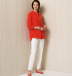 Vogue Patterns 1509 Misses' Banded Tunic with Yoke and Tapered Pants sewing pattern