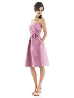 Alfred Sung bridesmaid dresses. Not sure how much they are, but there are so many styles and available in Canada!