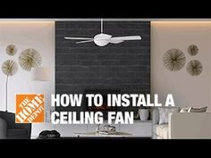 How To Replace or Install a Ceiling Fan - The Home Depot - YouTube