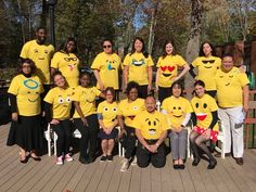 The staff at ManorCare Health Services - New Providence dressed as emoticons to celebrate Halloween at their center.