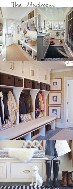 Expert tips for creating a functional, welcoming mud room! I want to convert my sunroom to partial mudroom